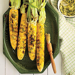 Grilled Corn on the Cob with Roasted Jalapeño Butter Recipe