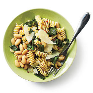 Rotini with White Beans and Escarole