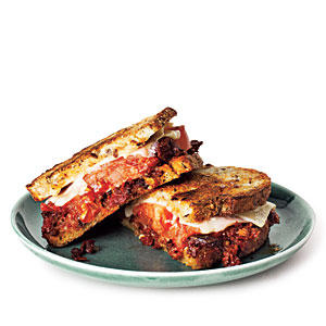 Grilled Gruyère and Olive Tapenade Sandwiches
