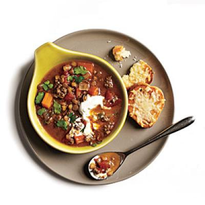 Indian-Spiced Lentils and Lamb Recipe
