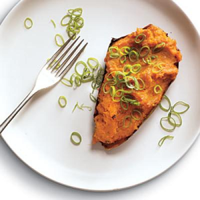 Healthy Twice-Roasted Sweet Potatoes with Chipotle Recipe