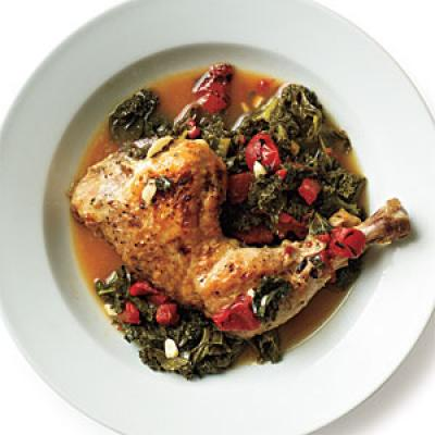 Braised Chicken with Kale - Kale Recipes - Cooking Light