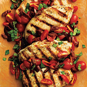 Pan-Seared Chicken with Tomato-Olive Relish - Superfast Chicken ...