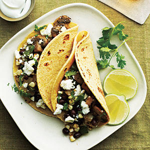 Zucchini, Corn, And Poblano Tacos Recipes — Dishmaps