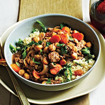 Moroccan-Style Lamb and Chickpeas Recipe