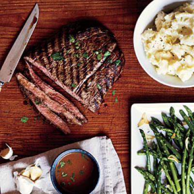 Pan-Grilled Flank Steak with Soy-Mustard Sauce - Flank Steak Recipes ...