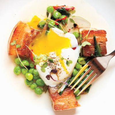 Slow-poached egg and pork belly from Hungry Mother