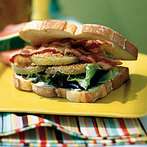 Fried Green Tomato BLTs - Fresh Tomato Recipes - Cooking Light