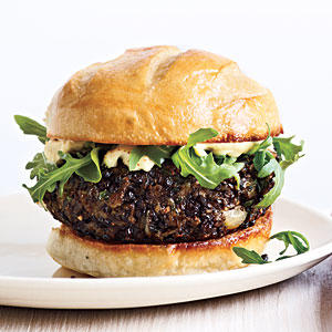 Mushroom Lentil Burgers - Best Veggie Burger Recipes - Cooking Light