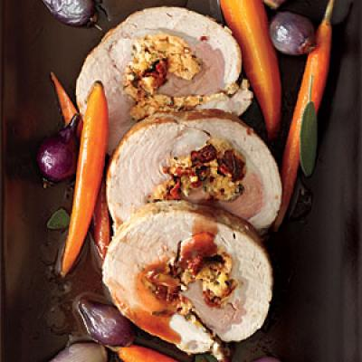 Pork Loin With Dried-Fruit And Chestnut Stuffing Recipes — Dishmaps