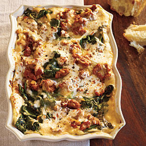 Turkey Sausage and Spinach Lasagna - Healthy Lasagna Recipes - Cooking ...