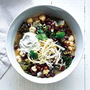 Black Bean, Hominy, and Kale Stew
