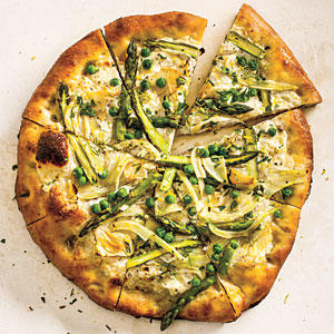 Spring Vegetable Pizza with Gremolata
