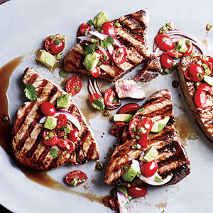 Seared tuna with avocado salsa fresh tuna recipes for Fresh tuna fish recipes