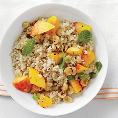 Bulgur with Peaches and Mint