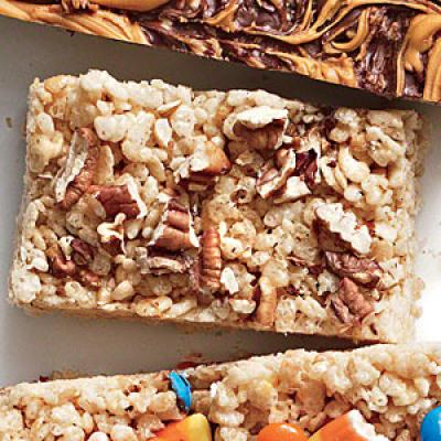 Browned Butter Pecan Chewy Crispy Bars