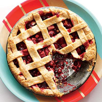 of festive color to your dessert sideboard with this tangy-fruity pie ...
