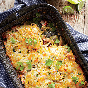 Stacked Chicken Enchiladas - Cooking with Chicken Thighs - Cooking ...