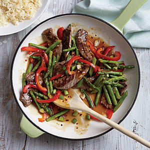 Steak and Asparagus Stir-Fry - Superfast Beef Recipes - Cooking Light