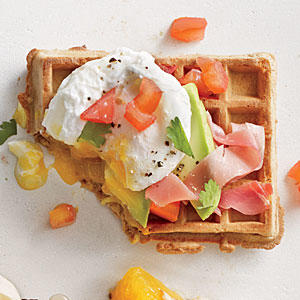 Green, Egg, and Ham Waffle