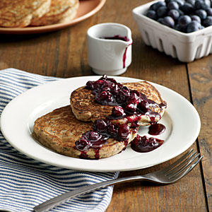 Lemon-Poppy Seed Pancakes with Blueberry Compote - Best Pancake ...