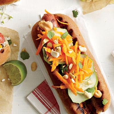 Banh Mi on a Bun - Hot Dog Toppings - Cooking Light