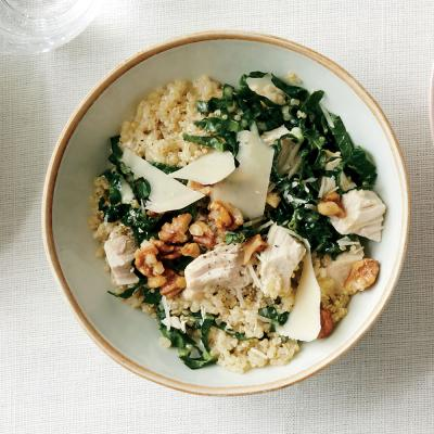 Kale Caesar Quinoa Salad with Roasted Chicken - Quinoa Salad Recipes ...