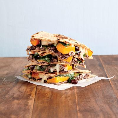 Butternut Squash, Kale, and Black Bean Quesadillas - Quick-and-Easy ...