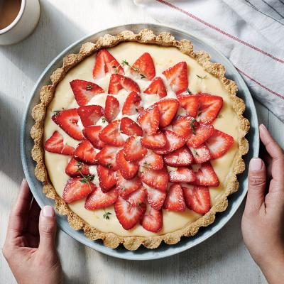 Strawberry Tart with Quinoa-Almond Crust