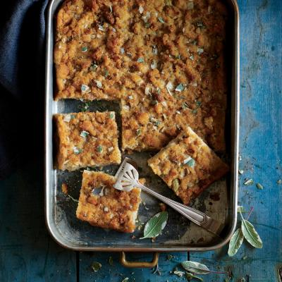 Southern Corn Bread Dressing Squares - Healthy Holiday Sides - Cooking ...