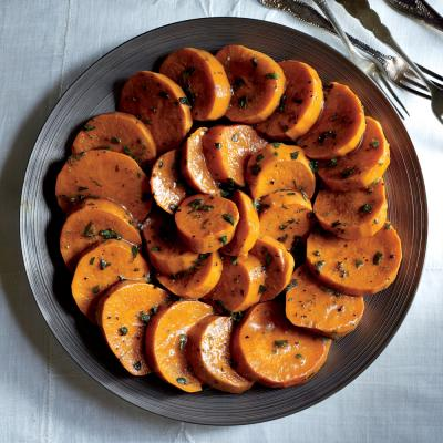 Glazed Sweet Potatoes with Maple Gastrique - Staff-Favorite ...