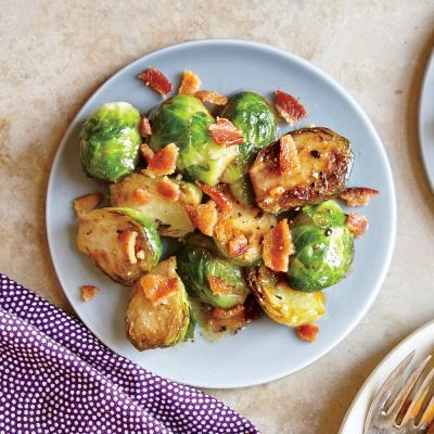 Braised Brussels Sprouts with Cider and Bacon - Brussels Sprouts ...