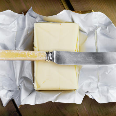 Butter in Aluminum Wrapper