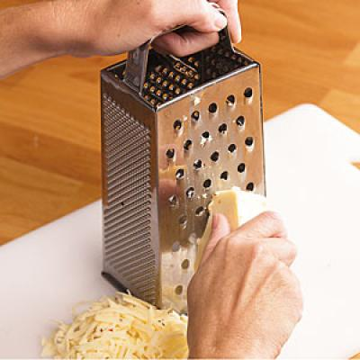 how to grate cheese without grater