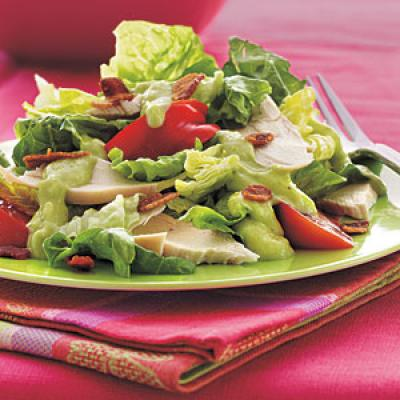 Chicken BLT Salad with Creamy Avocado–Horned Melon Dressing - 5 ...