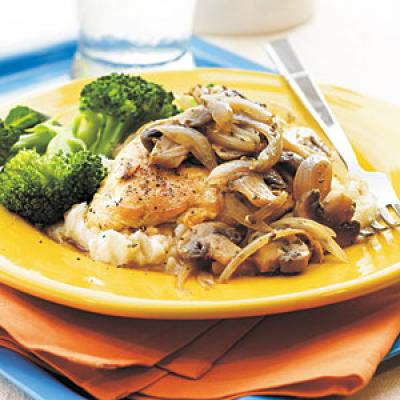 Mushroom herb chicken for Cuisine 5 ingredients