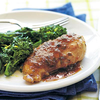 Rosemary-Fig Chicken with Port