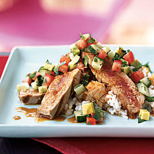 Grilled Tuna with Chipotle Ponzu and Avocado Salsa - Heart-Healthy ...