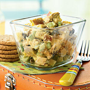Healthy Curried Chicken Salad with Apples and Raisins Recipe