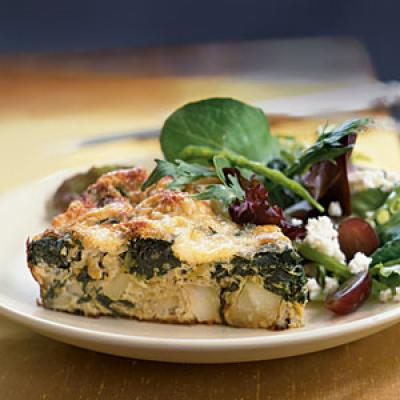 Frittata with Spinach, Potatoes, and Leeks - Vegetarian Egg Recipes ...