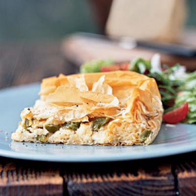 Cheese Pie with Peppers Vegetarian Recipe