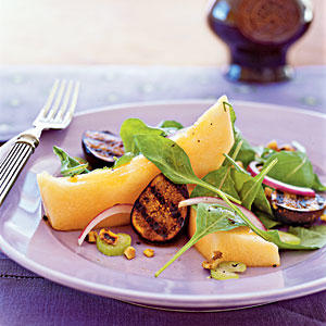 Cantaloupe and Grilled Fig Salad