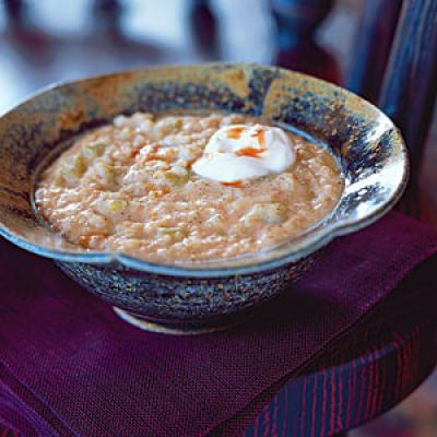 "Southwestern Barley ""Grits"" Vegetarian Pasta and Grains Recipe"