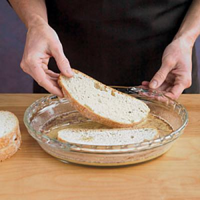 Step Two: Dip Bread Slices