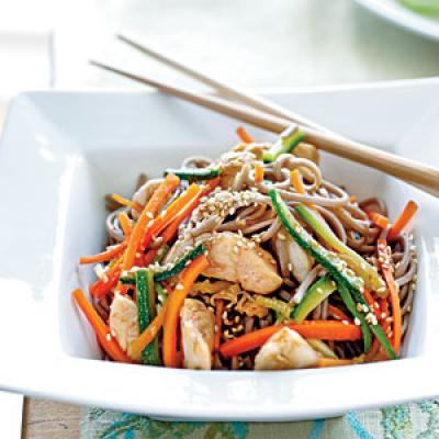 Soba Noodles with Chicken and Vegetables - Healthy Pasta Salad Recipes ...