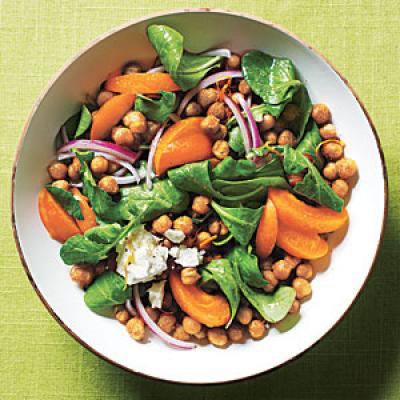 Toasted Chickpea and Apricot Salad
