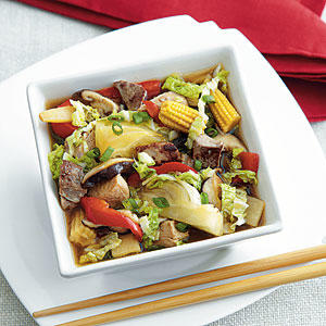 Braised Turkey and Asian Vegetables