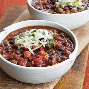 Three-Bean Vegetarian Chili - 100+ Favorite Slow-Cooker Recipes ...