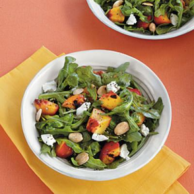 Grilled Stone Fruit Salad with Goat Cheese and Almonds - Family Lunch ...
