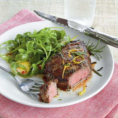 Where To Take Temperature Of Turkey >> Pan-Fried Beef Tenderloin - Family Dinner Recipes - Cooking Light